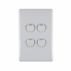 Switch 4 Lever Light Switch & Plate - Aokelan
