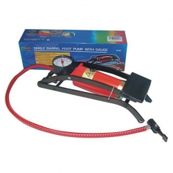 Foot Pump With Gauge 55 x 120mm Reinforced