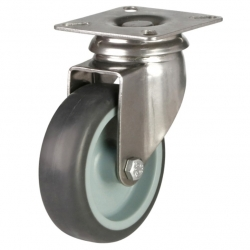 Castor Swivel with Grey wheel 100mm