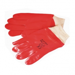 Glove PVC Knitted Wrist