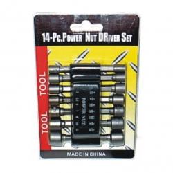 Set Power Nut Set MET/IMP 14Pce