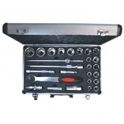 Socket Set 1/2 Aluminium Case 24Pce