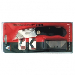 Knife utility fold away with blades