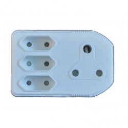 Plug Adapter 1X16A 3X5A