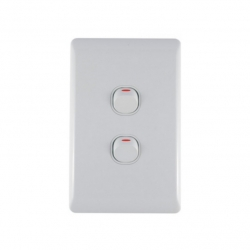 Switch 2 Lever Light Switch & Plate - Aokelan