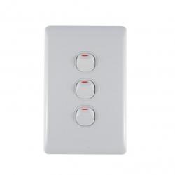 Switch 3 Lever Light Switch & Plate - Aokelan