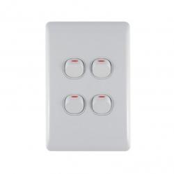 Switch 4 Lever Light Switch & Plate - Aokelan