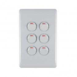 Switch 6 Lever Light Switch & Plate - Aokelan