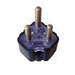 Plug 3 Pin Plug Top - Black
