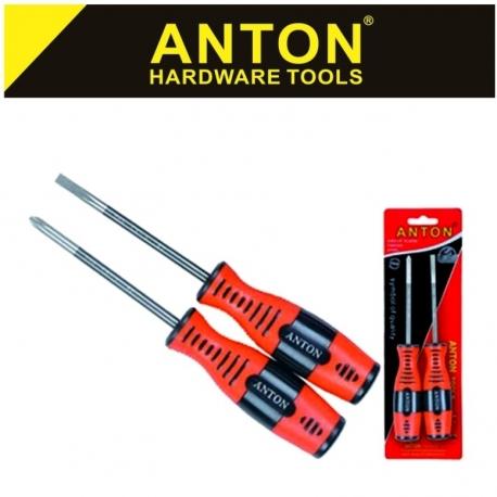 Screwdriver Set 2Pce Standard Anton