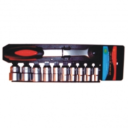 Socket Set 1/4'' Drive Max Power Double Rail